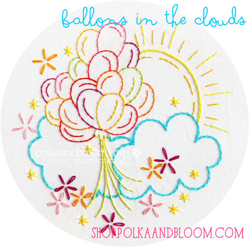 Balloons in the Clouds pattern