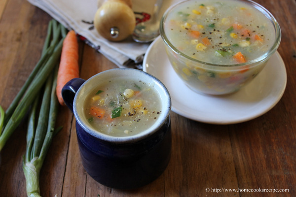 Creamy Sweet Corn Soup