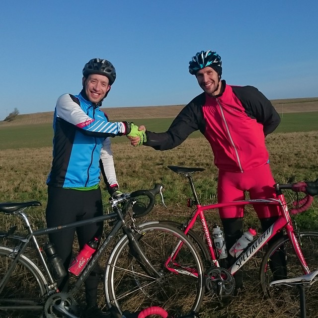 David Emms this year's winner, and last years champion Chris