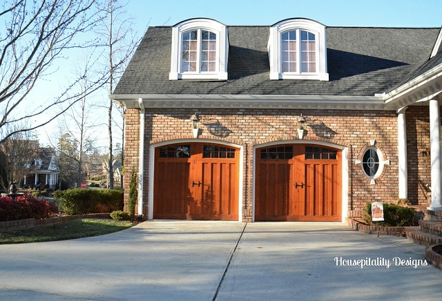 Wood garage doors-Housepitality Designs