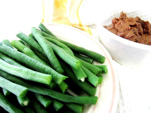 Ulam, long beans & sambal belacan