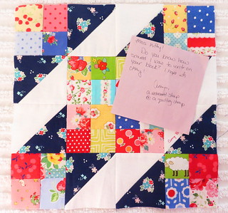 Sew Sweet Bee Block by Amy