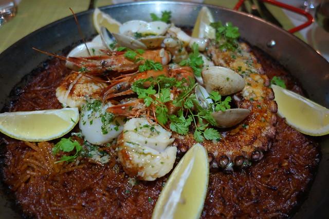Seafood Fideua at UNA Rochester