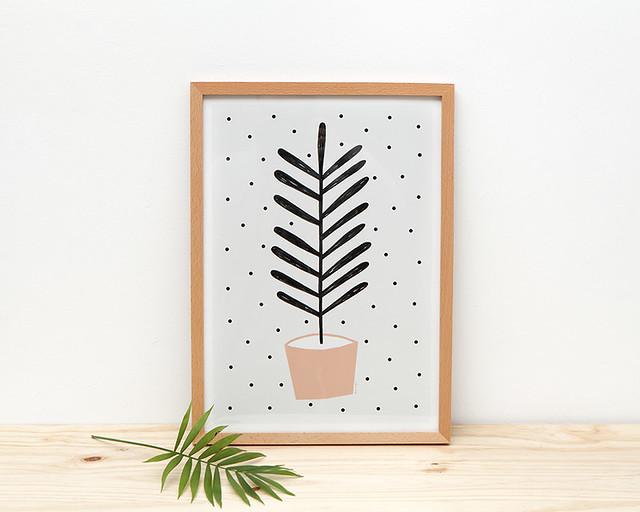 Planta Coral Print by Depeapa
