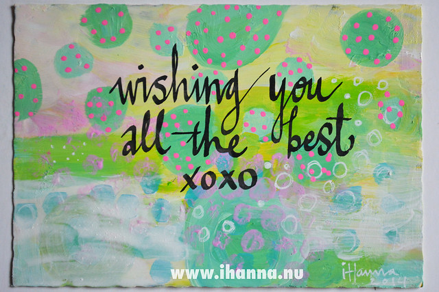 DIY Postcard: Wishing you all the best by iHanna, of www.ihanna.nu - Copyright Hanna Andersson