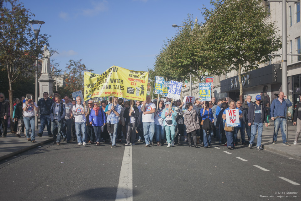 Dublin Water Protest - day 1