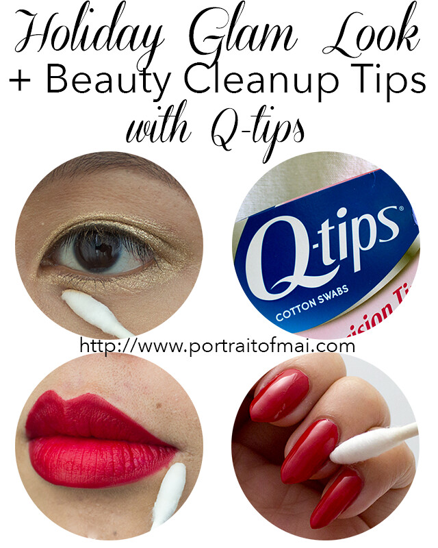 Q-tips Holiday Glam Look