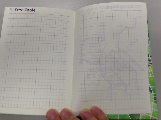 這次前後都有free table@[文具/開箱] 集日美工 2015 手帳