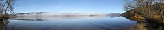 Panoramic view on the Lac de Joux