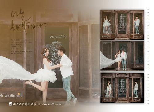 高雄KISS九九麗緻婚紗韓風婚紗攝影分享-合成照3