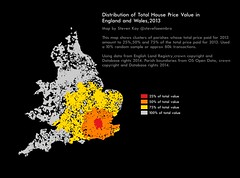 House Price Distribution in England and Wales in 2013