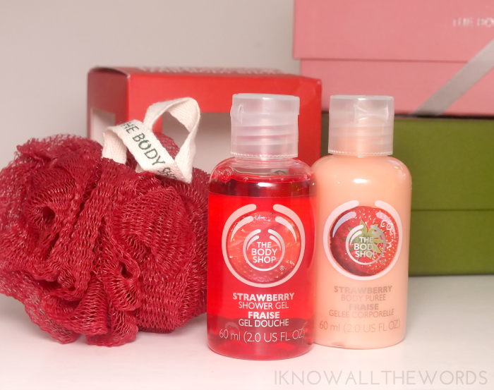 body shop gift sets- strawberry cube