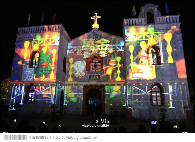 【萬金教堂】屏東萬金教堂聖誕季~3D光雕秀+耶誕地景藝術/全台最濃耶味小鎮!20