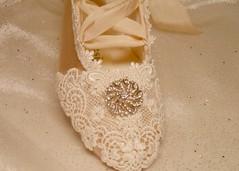 lace, art, pattern, textile, flower, footwear, white, shoe,