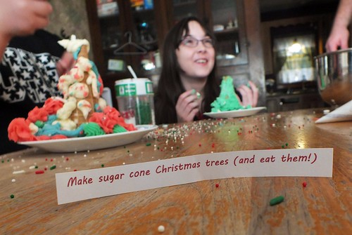 Make sugar cone Christmas trees - and eat them!