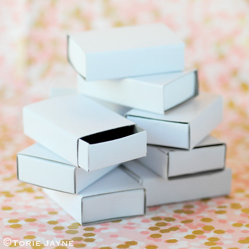 Plain white craft matchboxes
