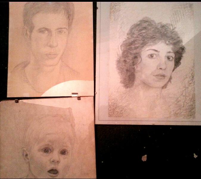 Luis, Tere y David en los años 80