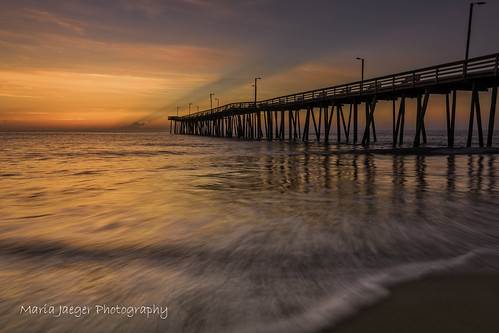 ocean longexposure light vacation color beach nature sunrise reflections landscape virginia pier nikon waves vabeach sunrays virginiabeach nikkor1685 jaegemt1 nikond7100