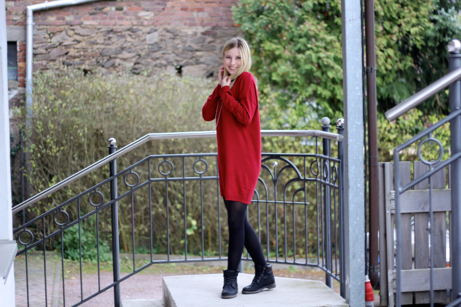outfit-knit-dress-oversize-pulli-rot-red-smile