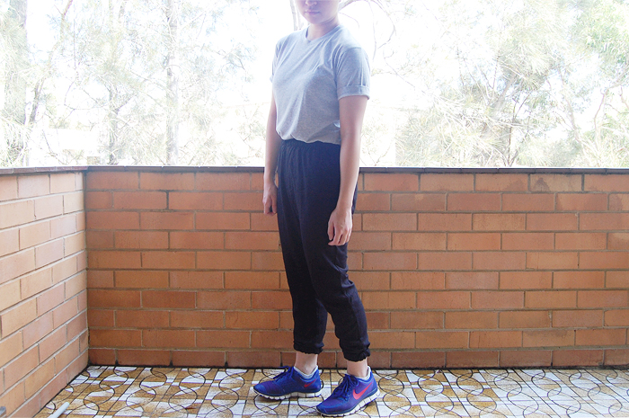 uniqlo drape pants
