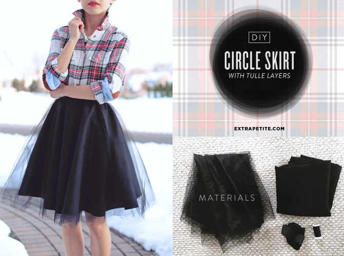 DIY tulle circle skirt tutorial header