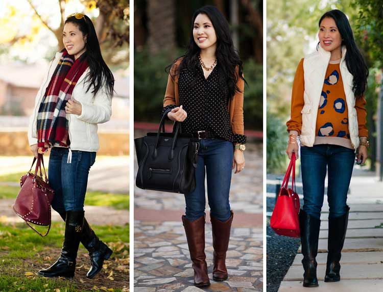cute & little blog | petite fashion | fall winter riding boots