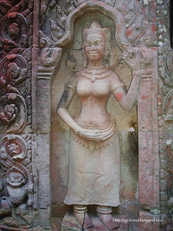 Пре Кан, барельефы Ангкора