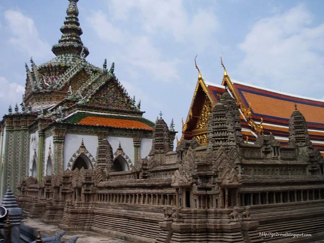 Макет Ангкор Вата в Королевском дворце