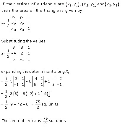 RD Sharma Class 12 Solutions Chapter 6 Determinants Ex 6.3 Q1-i