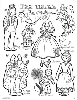 Tom Thumb paper dolls