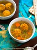 Pumpkin Matzo Dumpling Soup (1/2)
