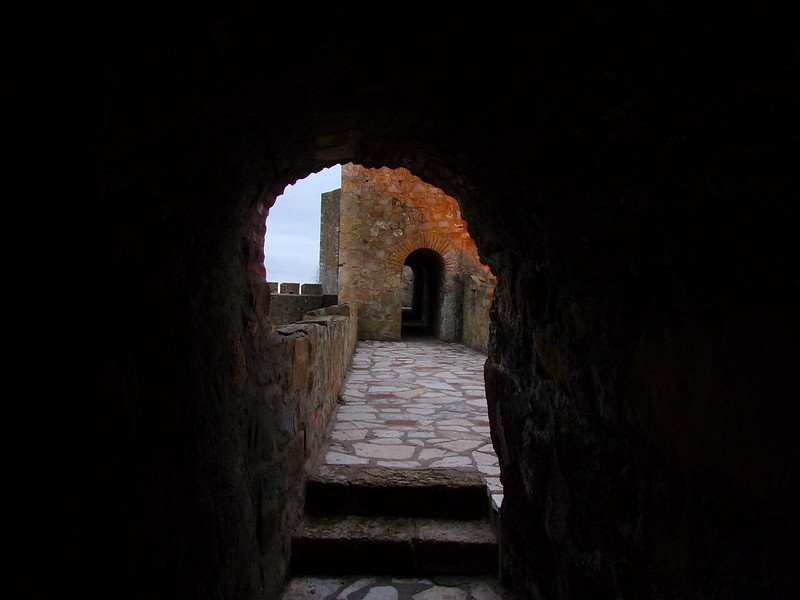 Inside the inner fortress tower