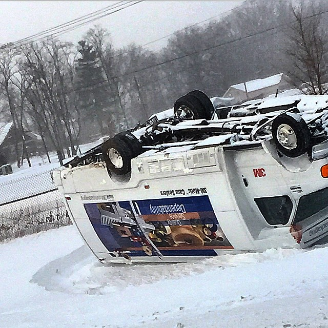 Bad roads in #puremichigan #michigan today!