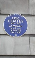 Photo of Eric Coates blue plaque