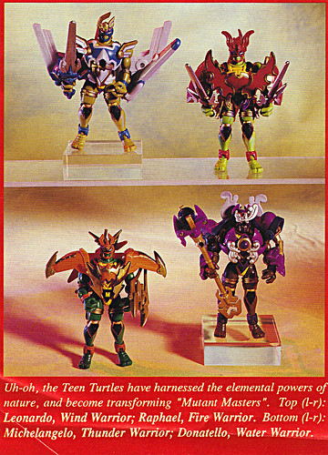 "ACTION FIGURE NEWS & TOY REVIEW : ""PLAYMATES TREKS ON INTO 1997"" pg.7 / .. MUTANT MASTERS TMNT (( 1997 ))"