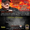 We are excited to announce that international artist and creator of Real Fire, Mike Lavallee is coming to Melbourne. Learn how to create real fire in numerous colours, skulls, shredded metal as well as other automotive tips and tricks. This is a must for  by Airbrush Asylum