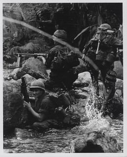 Marines in River Fight near Hill 479, August 1967