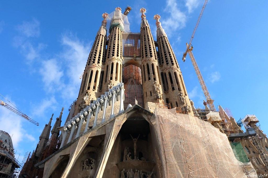 Barcelona day_2, Passion Façade, Basílica i Temple Expiatori de la Sagrada Família