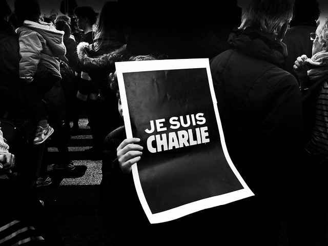 In France, today, everyone was CHARLIE. Here in Nice (French Riviera).