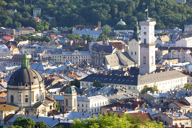 Lviv view from High Castle (Vysokiy Zamok). Ukraine