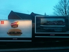 And the winner of the  'Unfortunate ad placement (outdoor)' award goes to McDonalds McRib