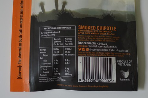 Smoked chipotle nutrition facts