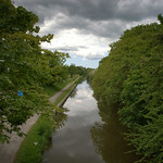 Clouds over the canal at Preston
