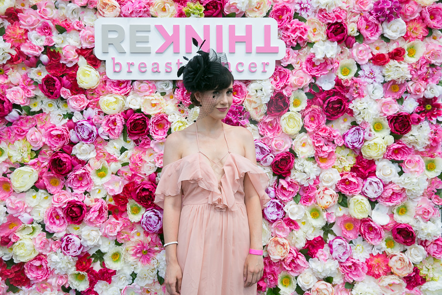 Gaby Henderson at the flower wall