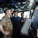 The Chief of Staff of the Operational HQ in Rome abord the mission Flagship - EUNAVFOR MED