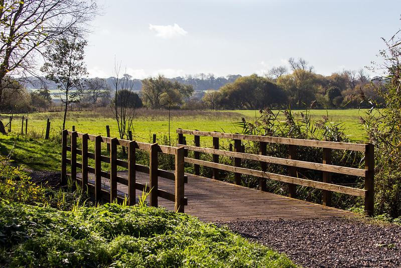 The new footbridge looks very smart