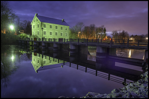 longexposure blue sunset color green water colours purple ottawa hour watsonsmill manotick