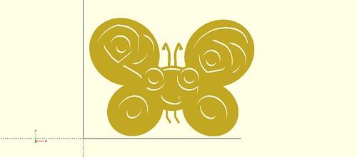 Camelia, Perl6 mascot, in OpenSCAD