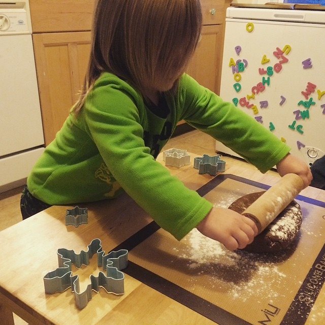 Making gingerbread snowflakes. #solstice