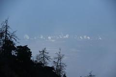 Satellite station in Leuk seen from the Bhutanese bridge